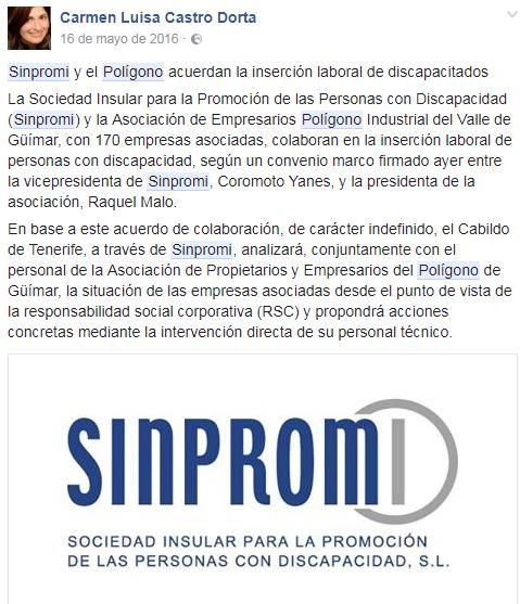 Sinpromi, Sociedad Insular para la Promoción de las Personas con Discapacidad